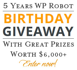 WP Robot Birthday Giveaway